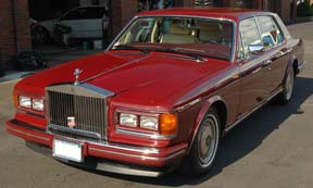 A 1991 Silver Spur, finished in ruby red.